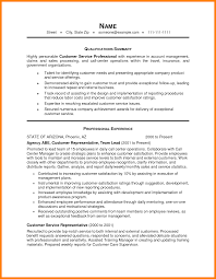 exle of customer service resume qualification for resume resume summary statement exle summary
