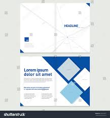brochure cover inner pages design template stock vector 322673507