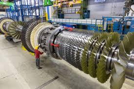 Turbine Engine Mechanic Sgt5 8000h Gas Turbine In The Siemens Assembling Halls In Berlin