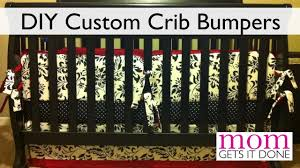 How To Convert A Crib To A Bed by How To Make Crib Bumpers Diy Simple Instructions Youtube