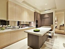 Modern Kitchen With Island Modern Kitchen Islands Using Wood Panelling Design Idea And