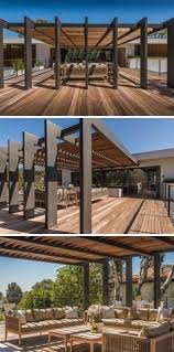 wohnideen minimalistischem pergola contemporary steel and timber cantilevered pergola pinned to