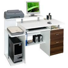 bureau pour ordinateur design bureau table informatique stella blanc noy achat vente