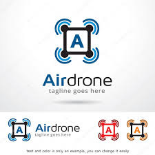 air drone letter logo template design vector u2014 vetor de stock