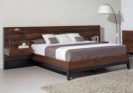 White Wood Bed Frame Bedroom Bedroom Interior Design Leather Bed Modern Wood Bed