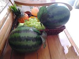 home decor free shipping large size artificial faux watermelon simulation of plastic fruits
