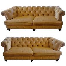 Custom Chesterfield Sofa Pair Of Large Sumptuous Custom Corduroy Chesterfield Sofas At 1stdibs