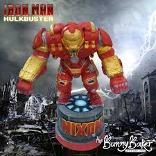 iron cake topper in this corner the iron hulkbuster cake topper between the