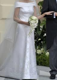 Armani Wedding Dresses Giorgio Armani Off The Shoulder Wedding Dress Celebrities Who