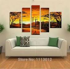5 piece hd printed large fire skull modern decorative paintings on