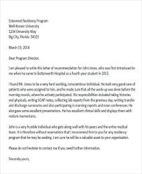 physician recommendation letter sample a letter of recommendation