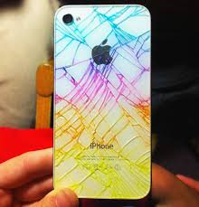 iphone quick tip add color to make your broken rear glass panel