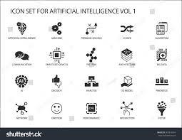 vector icon set artificial intelligence ai stock vector 403919554