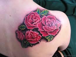 71 wonderful flowers tattoos on shoulder