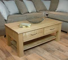 Oak Coffee Table Mobel Oak Coffee Table With Four Drawers