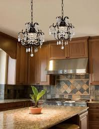 Kitchen Island Lights by Attractive Wrought Iron Kitchen Island Lighting With Crystal Bead
