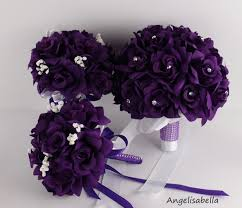 wedding flowers ebay purple flowers for wedding bouquets and corsages silk bridal