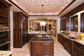 Tuscan Style Homes by Rustic Spanish Inspired Kitchen Center Island Highlights By