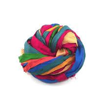 wide ribbon multicolored finished edges sari silk ribbon yarn 1 wide darn