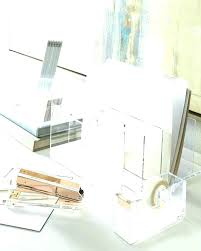 Clear Desk Organizer Acrylic Desk Organizer Monitor Clear Desktop Interque Co
