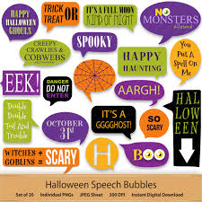 halloween digital speech bubbles digital stickers bubble happy