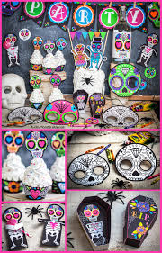 sugar skull day of the dead halloween printable party decor