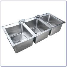 3 compartment sink faucet 3 stainless steel 3 compartment