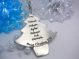 pewter personalized tree ornament sweet tea
