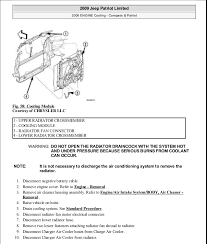 jeep compass air conditioning problems manual reparacion jeep compass patriot limited 2007 2009 cooling