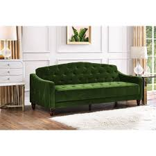 chemical free sleeper sofa free shipping buy novogratz vintage tufted sofa sleeper ii