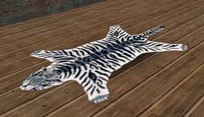 second life marketplace carpet zebra tiger skin