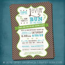 bun in the oven baby shower invitations archives baby shower diy