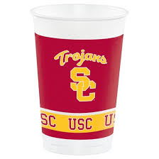 8ct of southern california usc trojans plastic cups
