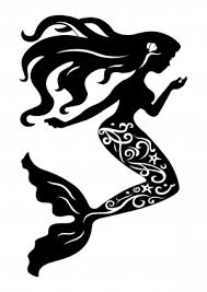 mermaid silhouette vector free vector download ai eps