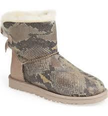 womens ugg boots mini bailey bow ugg australia mini bailey bow snake print boot nordstrom