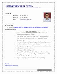 cv format for mechanical engineers freshers pdf converter best cv format for electrical engineer resume of a electrical