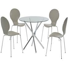 glass chrome dining table lpd furniture casa glass u0026 chrome round dining table leader stores