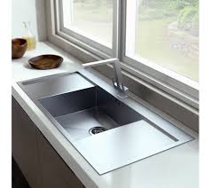 double drainer kitchen sink zenuno 45 i f single bowl sink double side drainers satin