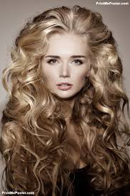 curly hair parlours dubai model with blonde long hair waves curls hairstyle hair salon