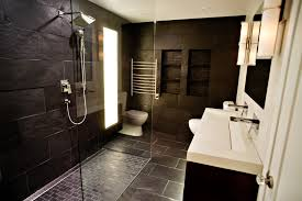harmonious walk in shower room ideas presents charming dark wall