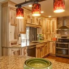 Rustic Hickory Kitchen Cabinets Hickory Cabinets Rustic Kitchen Design Ideas Wood Flooring Pendant