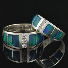 Opal Wedding Ring Sets by 547 Best Opal Inlay Rings Images On Pinterest Opal Rings Opals