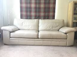 Spencer Sofa Sold Paid Collected 2 X Cream Leather Sofas And 1 X Cream