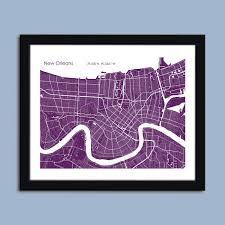New Orleans City Map by New Orleans Map New Orleans City Map Art New Orleans Wall Art