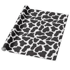 cow wrapping paper black and white cow print wrapping paper cow print