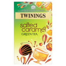 twinings salted caramel green tea 20 per pack from ocado