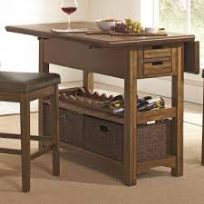 Kitchen Island And Dining Table by Salerno Rustic Counter Height Kitchen Island Coaster 105567