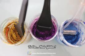 how to make your own hair glitter tutorial rainbow hair colour