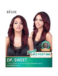 beshe 1b wine beshe synthetic c curve 5 deep part lace front wig dp sweet
