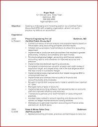 fresh accountant resume objective mailing format